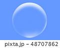 水滴 水泡 泡 気泡 バブル 単体 イラスト シンプル アップ  素材 透明感 シンプル 48707862