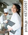 キッチン レストラン 男女 48710097
