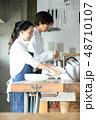 キッチン レストラン 男女 48710107