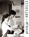 キッチン レストラン 男女 48710113