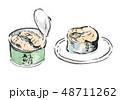 鯖缶 鯖 缶詰のイラスト 48711262