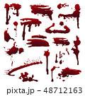 血液 滴下 スプラッタのイラスト 48712163