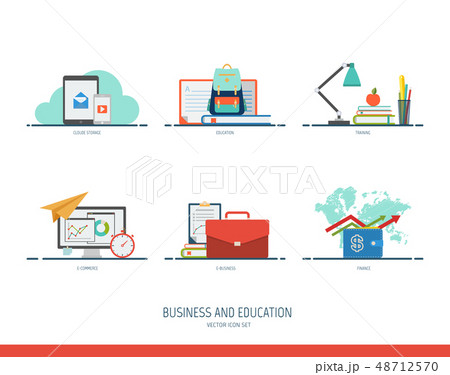 Business and education icon. Vector illustration 48712570