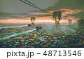 slum city in futuristic world 48713546