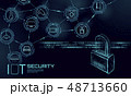 セキュリティ セキュリティー 安全のイラスト 48713660