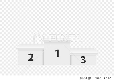 Realistic Vector 3d White Winners Podium Closeup Isolated on Transparent Background. Victory, Award 48713742
