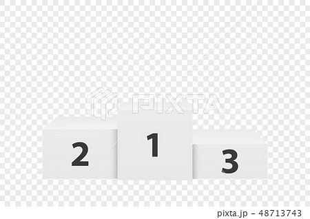 Realistic Vector 3d White Winners Podium Closeup Isolated on Transparent Background. Victory, Award 48713743