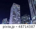 梅田 夜景 ビルの写真 48714387