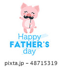 Father day greeting card template 48715319
