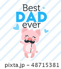 Father day greeting card template 48715381