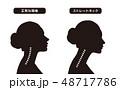 ストレートネック スマホ首 女性のイラスト 48717786
