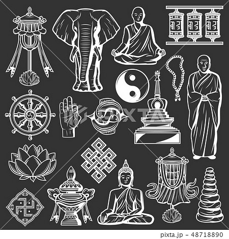 Buddhism religion and culture icons, spirituality 48718890