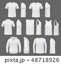 男 シャツ Yシャツのイラスト 48718926