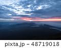富士山麓地域 山中湖 朝日の出 48719018