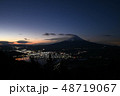 新道峠から富士山を望む 夜景と夜明け 48719067