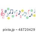 音楽 音符 ベクターのイラスト 48720429