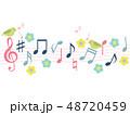 音楽 音符 ベクターのイラスト 48720459
