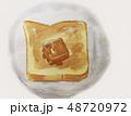 トースト 食パン パンのイラスト 48720972