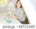 女性 ライフスタイル 刺繡 48721483