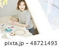 女性 ライフスタイル 刺繡 48721493