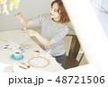 女性 ライフスタイル 刺繡 48721506