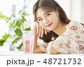 女性 若い女性 アジア人の写真 48721732