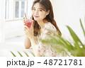 女性 若い女性 アジア人の写真 48721781