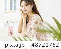 女性 若い女性 アジア人の写真 48721782