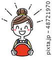 ベクター 女性 主婦のイラスト 48721970