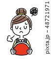 ベクター 女性 主婦のイラスト 48721971