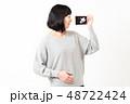 女性 妊娠 エコー写真 48722424