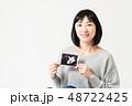 女性 妊娠 エコー写真 48722425