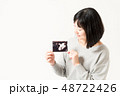 女性 妊娠 エコー写真 48722426