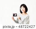 女性 妊娠 エコー写真 48722427