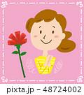 母の日 カーネーション 花のイラスト 48724002