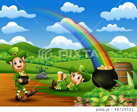 Happy St Patrick day leprechaun celebrate 48724531