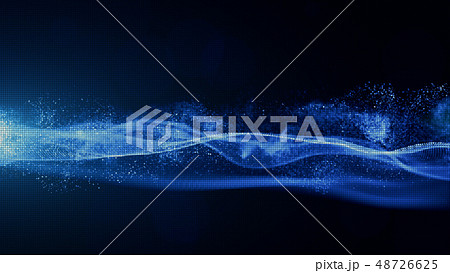 Abstract Blue Color Digital Particles with Dust 48726625