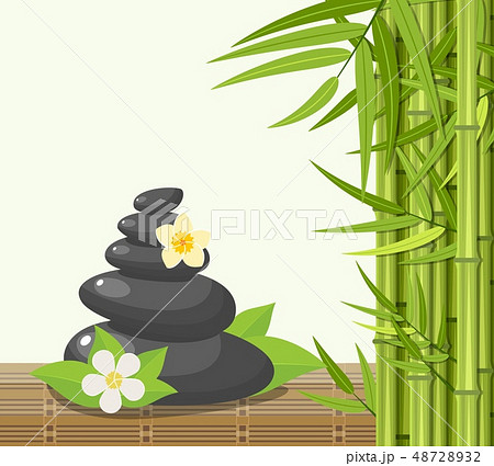 Bamboo and stones - spa background 48728932