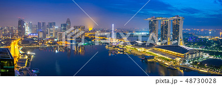 Singapore panorama view of cityscape skyline 48730028