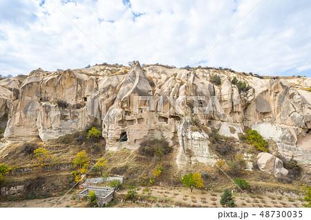 Rock mountain in open air museum in Cappadocia 48730035