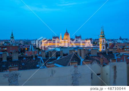 Budapest skyline with Parliament Building 48730044