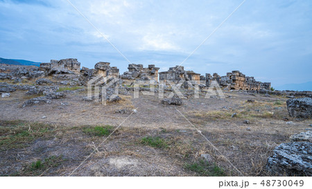 Hierapolis the ancient city in Pamukkale, Turkey 48730049