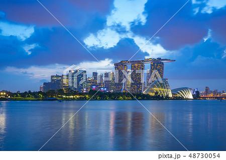 Singapore city skyline view from Marina Barrage 48730054