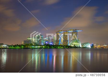 Singapore city skyline view from Marina Barrage 48730056