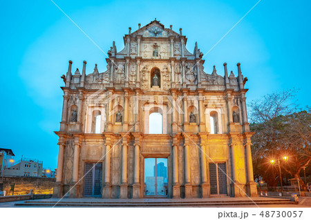 Ruins of St. Paul's the famous place in Macao 48730057