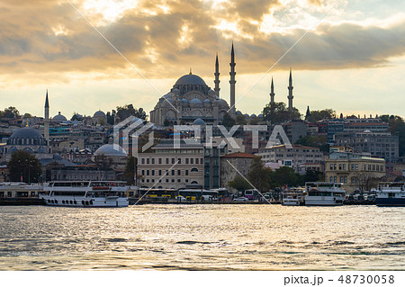 Istanbul cityscape skyline in Istanbul, Turkey 48730058