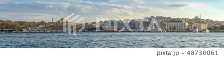 Panorama view of Istanbul city skyline in Istanbul 48730061