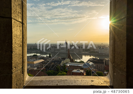 Budapest Parliament Building with view of Danube 48730065
