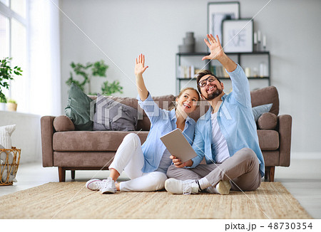 concept of moving, buying  home. married couple 48730354