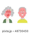 笑顔 おばあちゃん おじいちゃんのイラスト 48730450